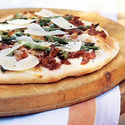 Flatbread with Pancetta and Asparagus | CookingLight.com