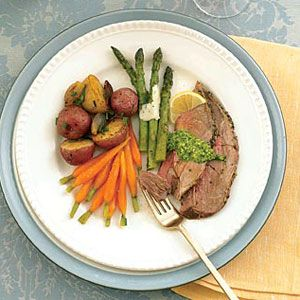 Roast Leg of Lamb with New Potatoes and Shallots from WomansDay.com # ...