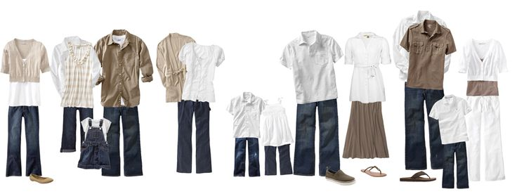 Family Portrait Session Clothing Ideas - So helpful for planning a large family portrait.