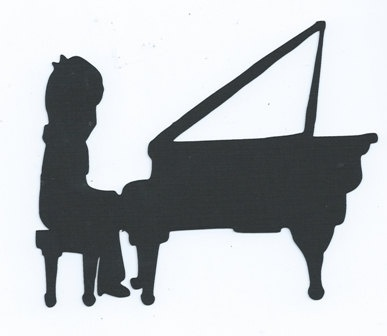 Little boy playing piano silhouette by hilemanhouse on Etsy   1 99Playing Piano Silhouette