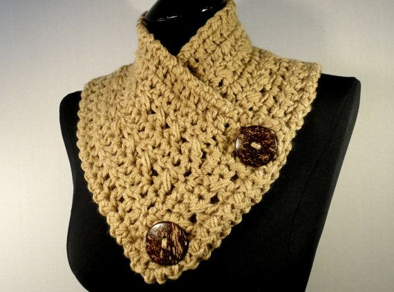 Crochet Scarf Pattern With Button : Crochet Pattern, Crochet Scarf Pattern, Button Scarf ...