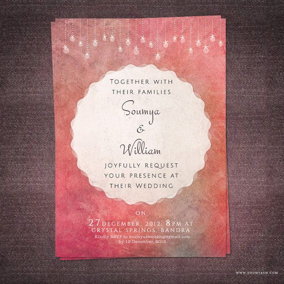 Modern Wedding Invitation Template Online Printable Cheap Unique ...