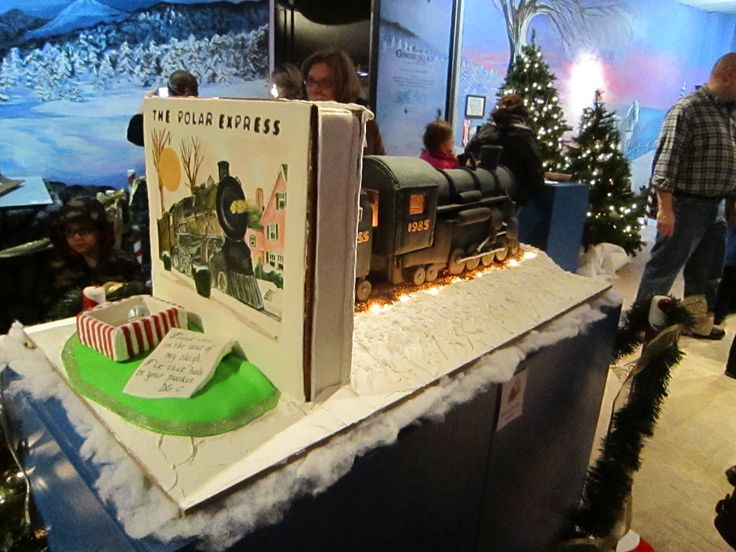 "Adult Division - ""All Aboard the Polar Express."" Reverse side of the display."