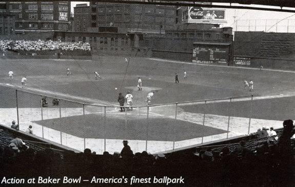 Baker Bowl Philadelphia Baseball Pinterest