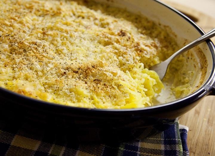 Spaghetti Squash Gratin   Recipes to try   Pinterest