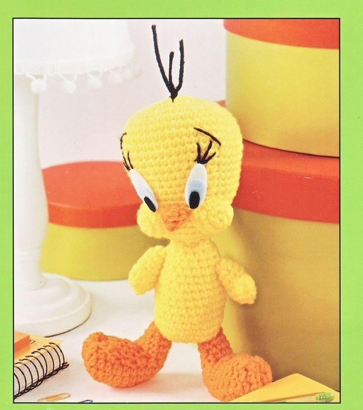 Amigurumi Tweety Yapilisi : Tweety Bird Crochet. AMIGURUMI Pinterest