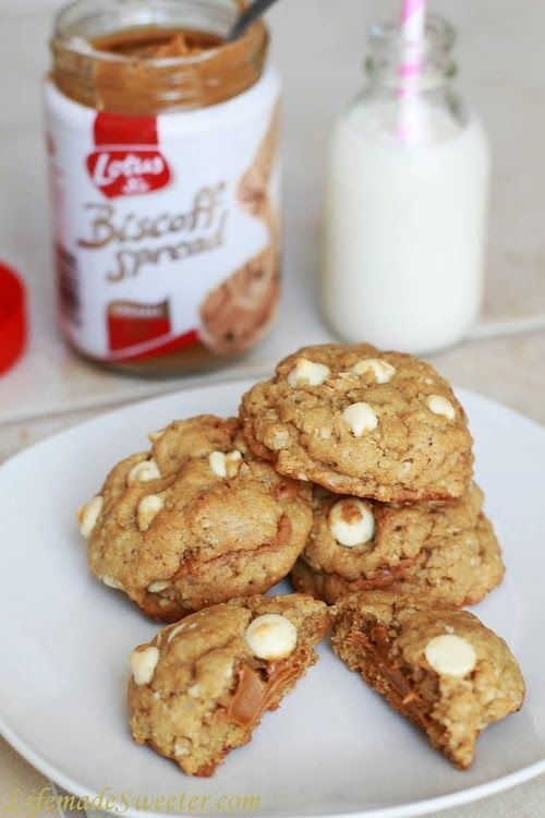 Biscoff White Chocolate Chip Cookies | Crave [Cookie] | Pinterest