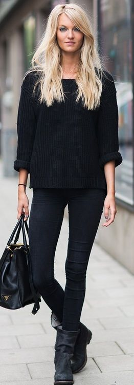 All black. Loving the bag!
