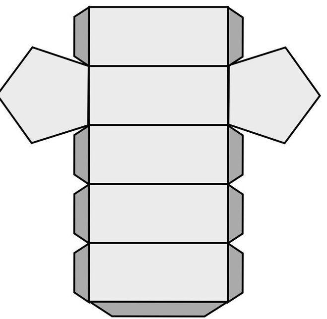 Объемные фигуры из картона своими руками схемы шаблоны 30