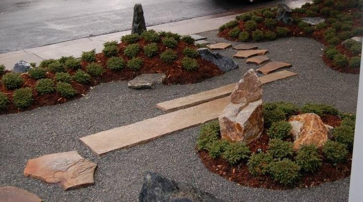 zen garden japanese front yard landscape urban design