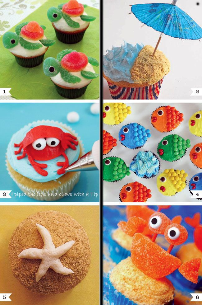 Under the sea cupcake decorating ideas cake cupcake Cupcake decorating ideas