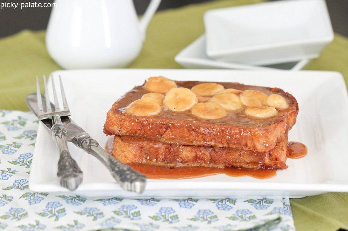 Peanut Butter Banana Foster French Toast - from: Picky Palate