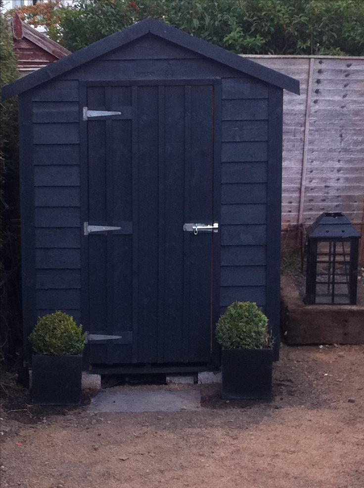 Farrow And Ball Downpipe Shed Garden Pinterest