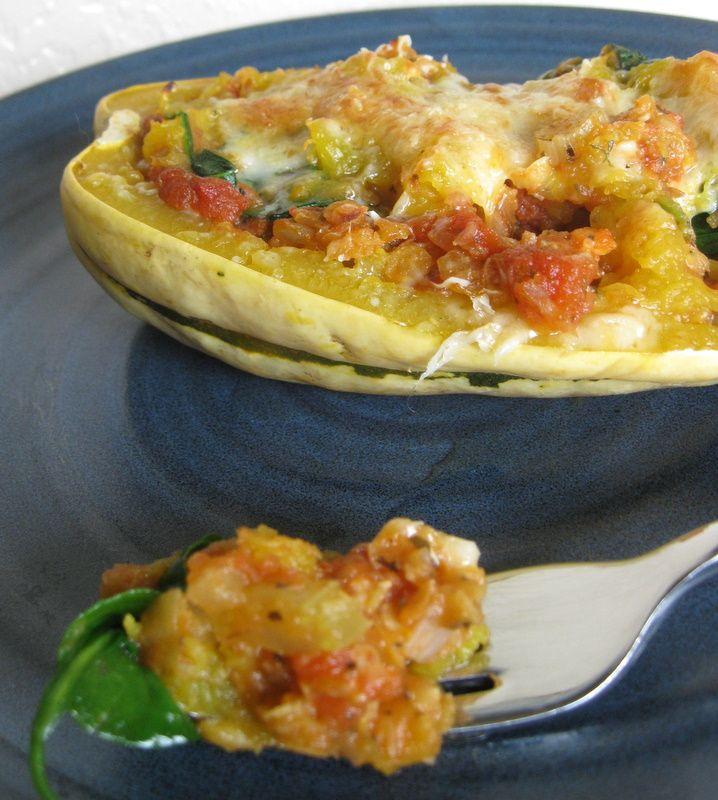 Lentil and Tomato Stuffed Delicata Squash | Recipe