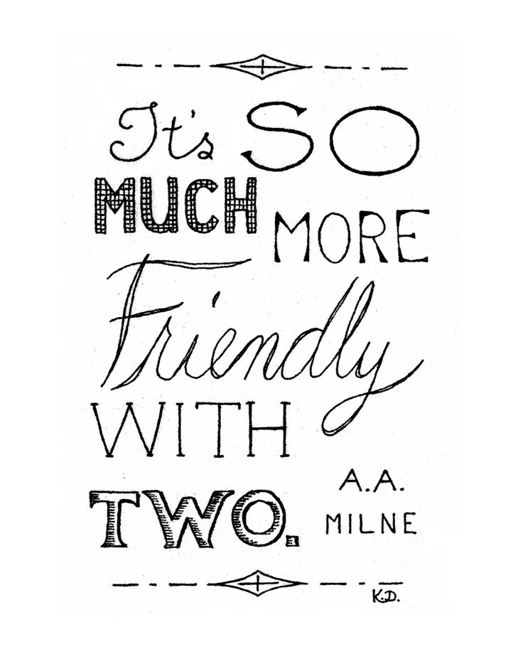 Friend Quote Friendly With Two Pooh Friends Quote by CornerChair, $18 ...