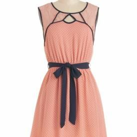 Peachy Keen Lace Cutout Dress