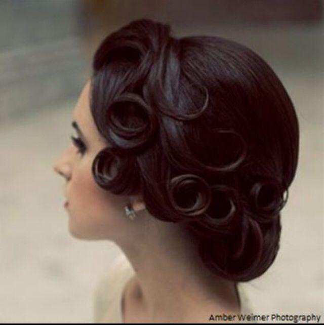 Fabulous 20s inspired wedding hair | Hair | Pinterest