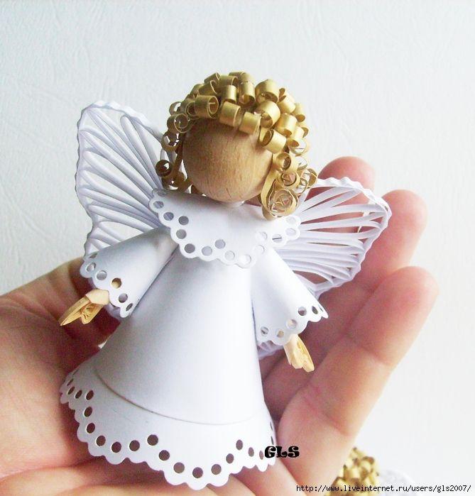 Объемный ангелочек своими руками 70