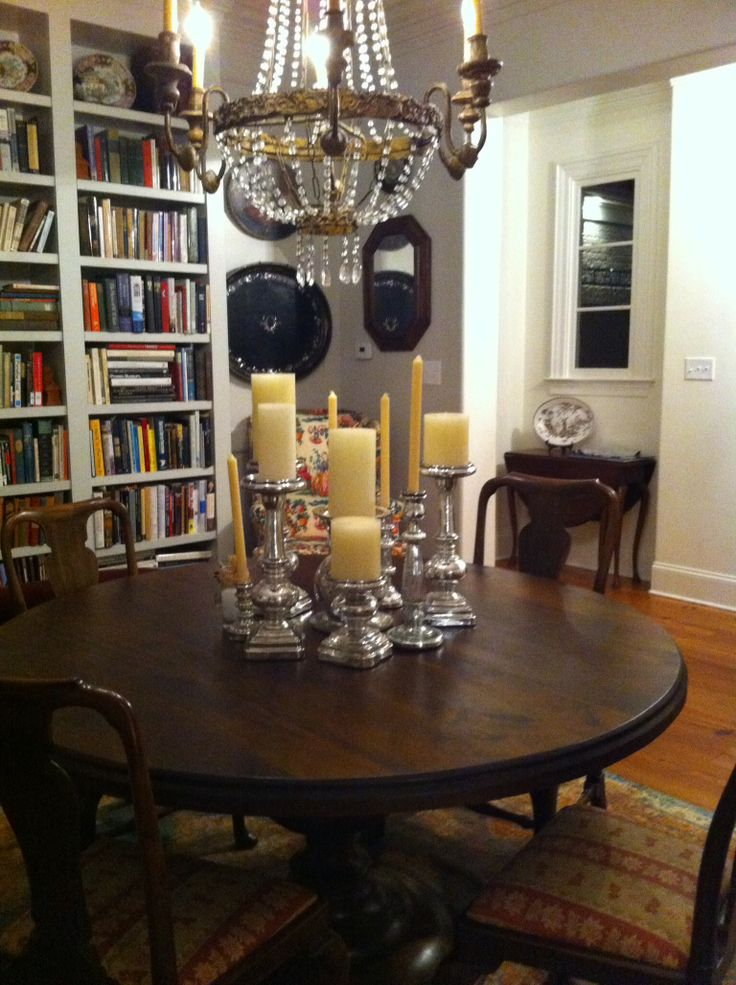 Dining room library book love pinterest for Dining room library