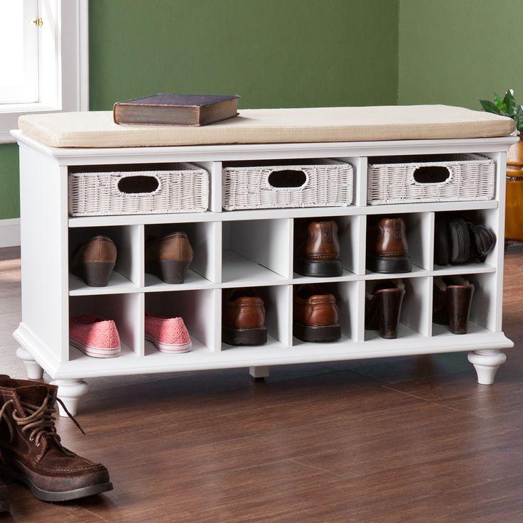 Wildon Home Mason Shoe Storage Bench   Wayfair