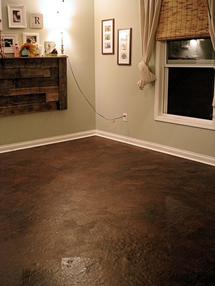 Brown paper flooring looks like leather cheap floor for Cheap floor covering