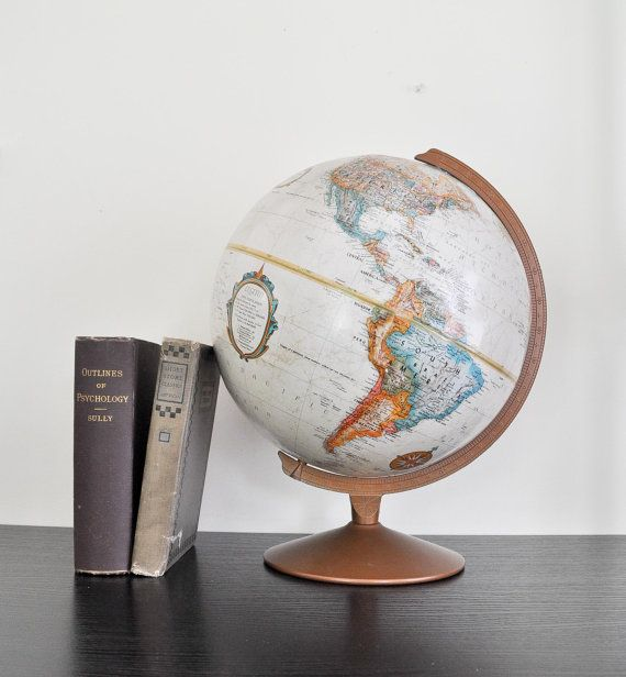Vintage Replogle Globe 12 Diameter Made In Usa Home