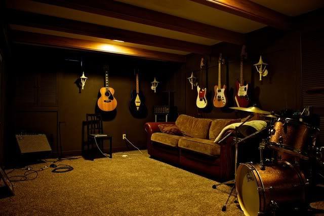 Man Cave Guitar Room : Dark drum room favorite places spaces pinterest