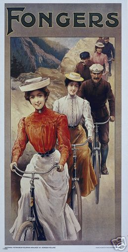 Vintage cycling ad