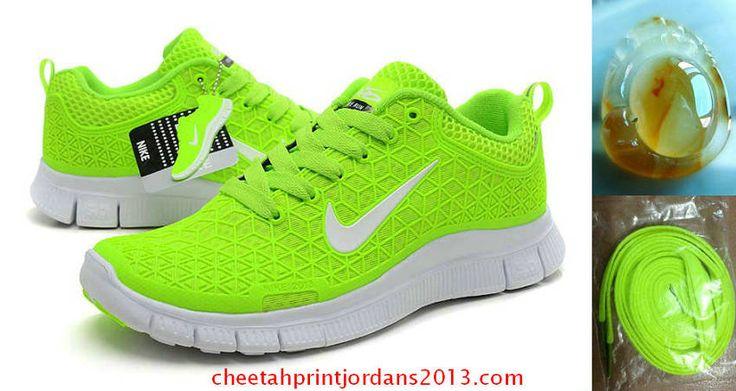 Cheap Womens Nike Free 6.0 Volt Neon Green White Running Shoes 2013
