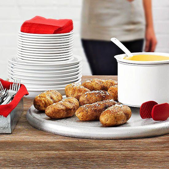 Easy Buffet Party Idea: Baked Potato Bar