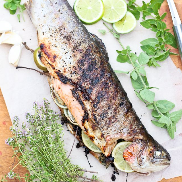 Grilled Whole Trout - Fairly Easy to Make and Not So Bad Looking After ...