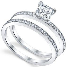 Princess Cut Engagement Rings Thin Band