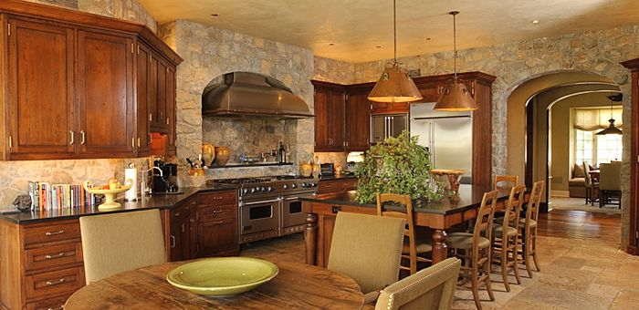 Stone Kitchen Warm And Inviting Home Sweet Home Pinterest