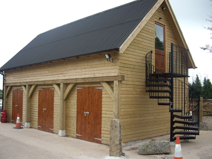 Two storey timber garage severn house pinterest for Double garage with loft