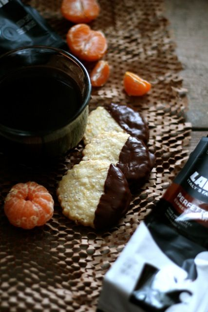 Chocolate Dipped Almond & Orange Shortbread - from @Alaska from ...