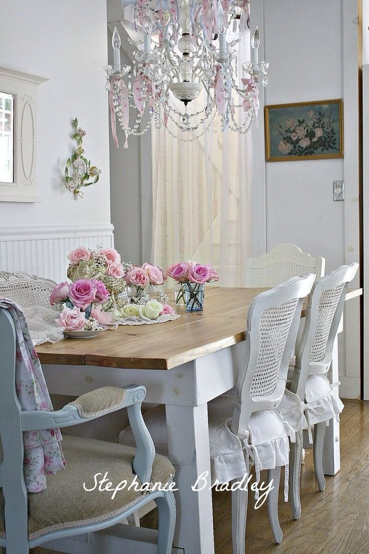 Shabby chic dining decorating ideas pinterest - Shabby chic dining rooms ...