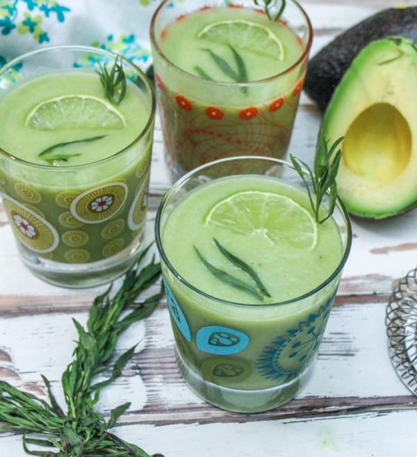 Avocado Margarita. 1 Avocado 1 Cup Tequila ¼ Cup fresh tarragon ...