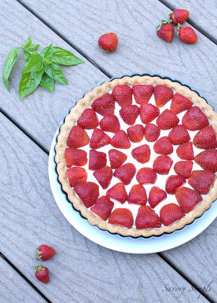 Strawberries and Cream Tart | Yummy, Yummy Food | Pinterest