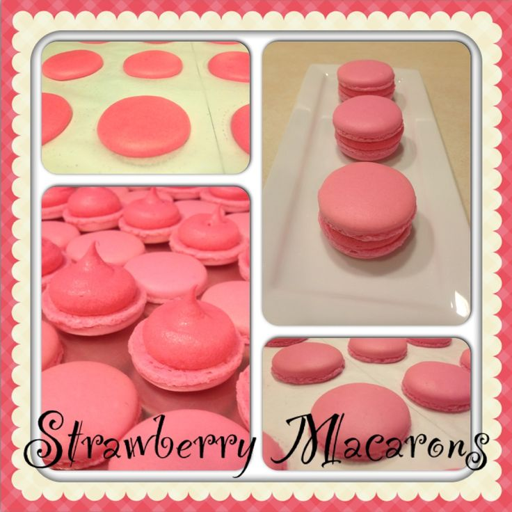 Strawberry Macarons | french macarons | Pinterest