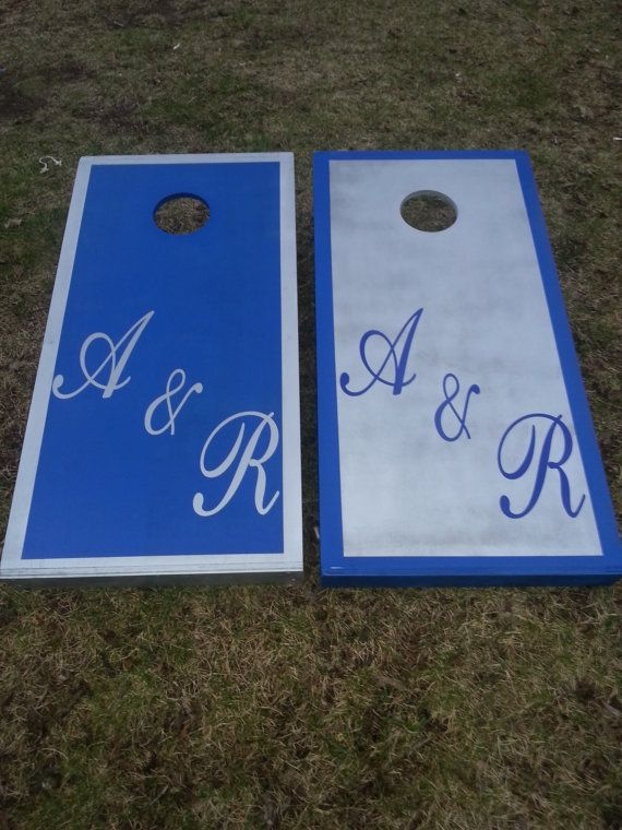 Cornhole By CornholeWorld Custom Wedding Cornhole Boards