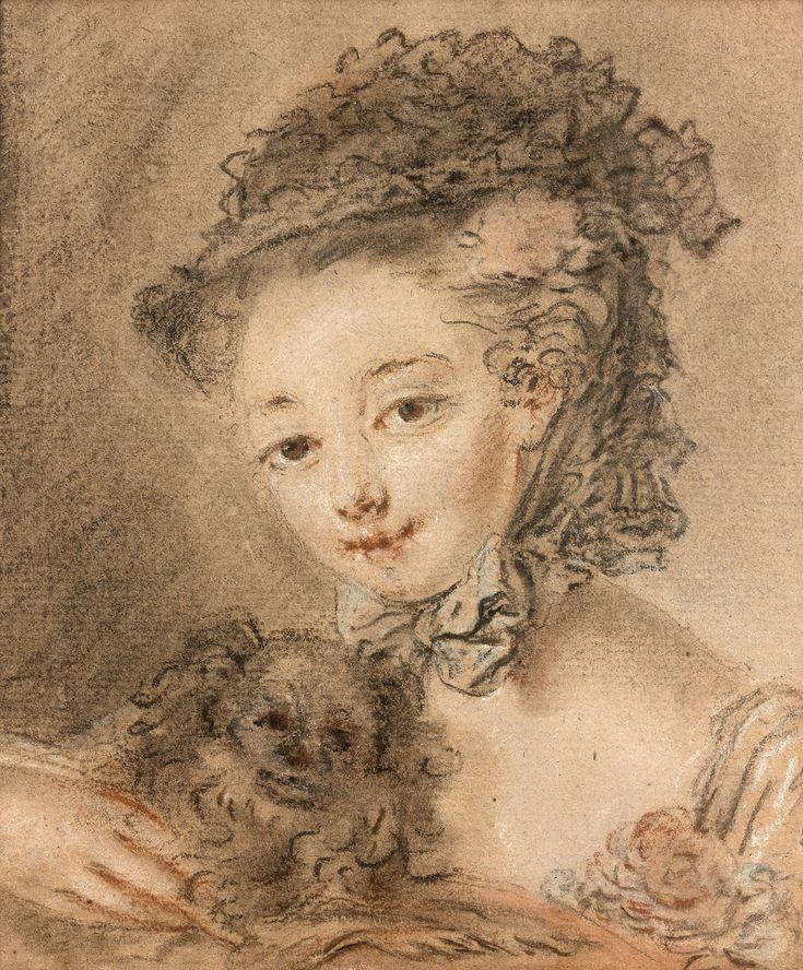 François Boucher - Etude de tête de jeune fille - Villa Ephrussi de Rothschild (Saint-Jean-Cap-Ferrat) © Studio Sebert Photographes