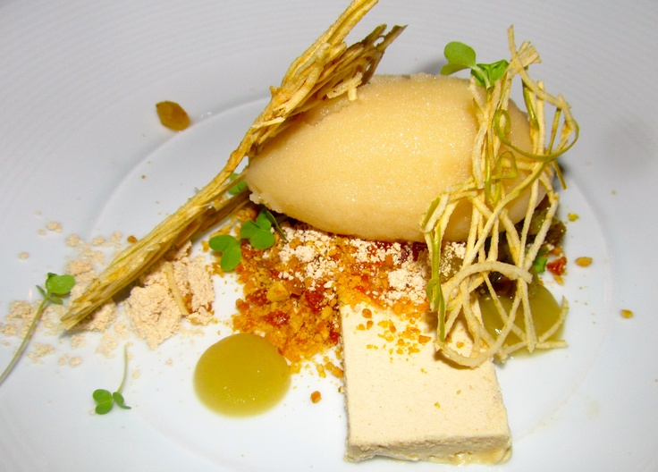 Peanut butter semifreddo with apple-miso sorbet from Philip Speer at ...