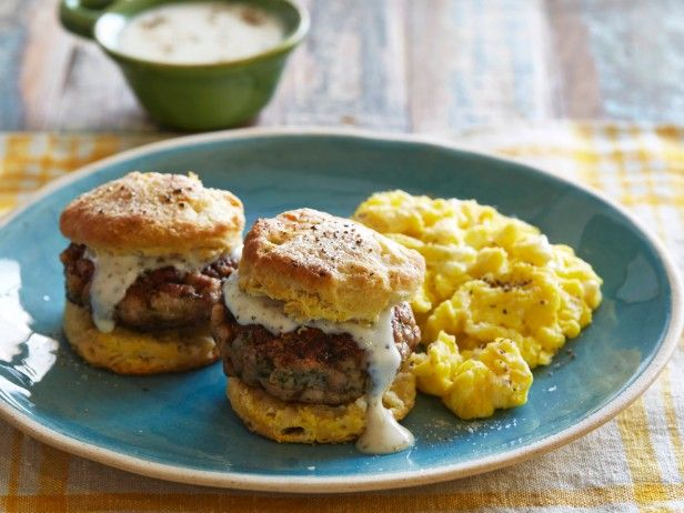 Buttermilk Biscuits with Eggs and Sausage Gravy from CookingChannelTV ...