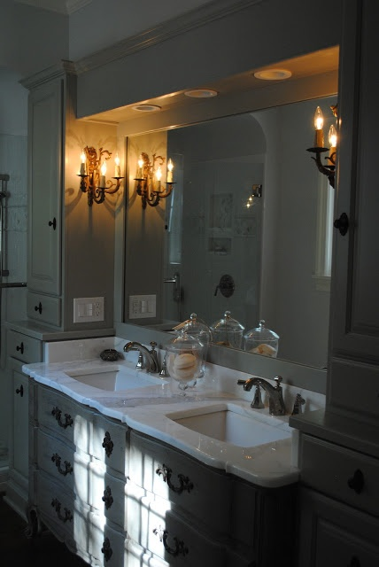 perfect gray gray cabinets mine and sally wheat's} BM Fieldstone