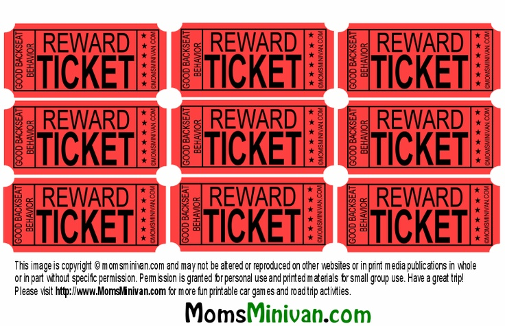 photo relating to Printable Reward Tickets named Printable benefit tickets -