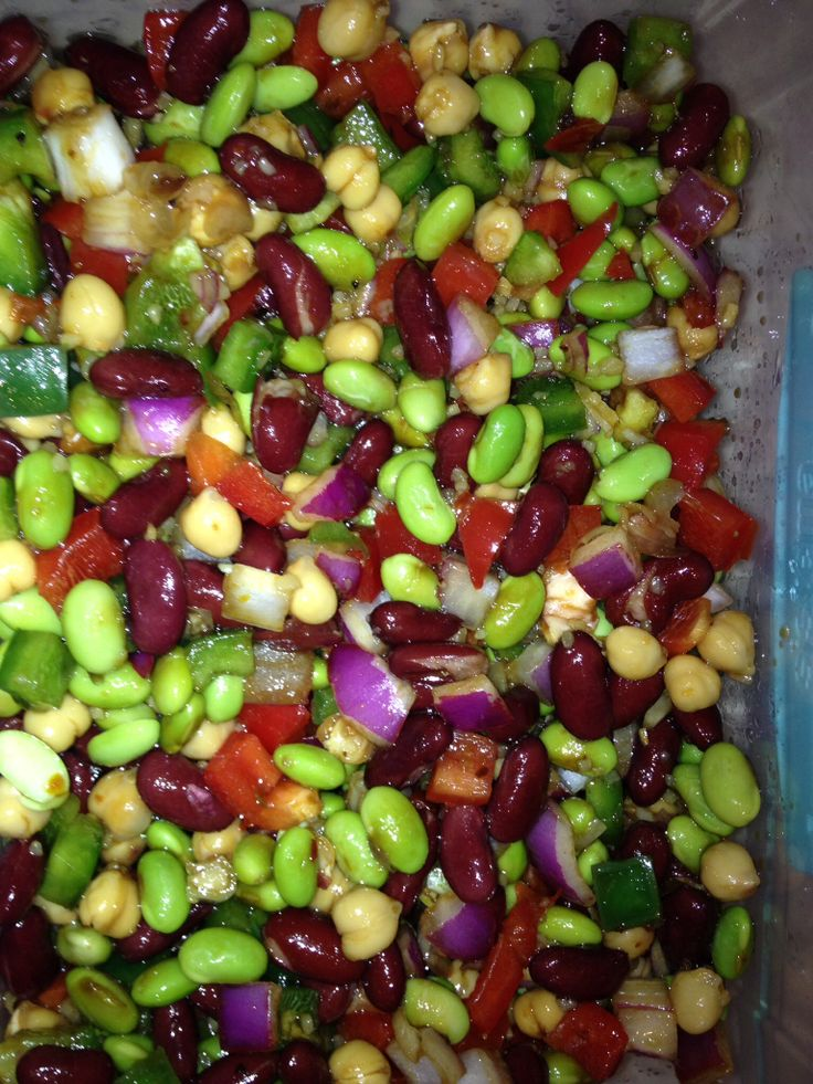 My edition of Jason's Deli Bean Salad: 1 can kidney beans, 1 can chick ...