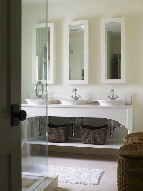 Triple Sink Bathroom Vanity Bathrooms Pinterest