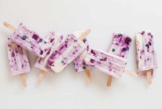 Roasted berry and honey yogurt popsicles (a.k.a. perfect breakfast popsicles).