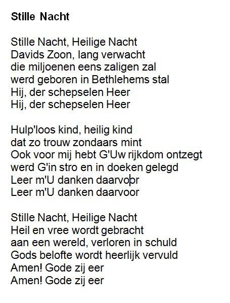 Stille nacht - Tekst   Kerst liedjes met tekst   Pinterest