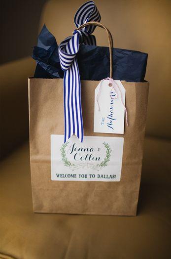 Ribbon welcome bag